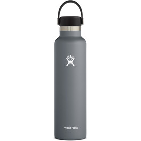 Hydro Flask Standard Mouth Drinkfles met standaard Flex Cap 709ml, grijs